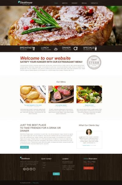 Flexível template Web №49265 para Sites de Churrasqueira