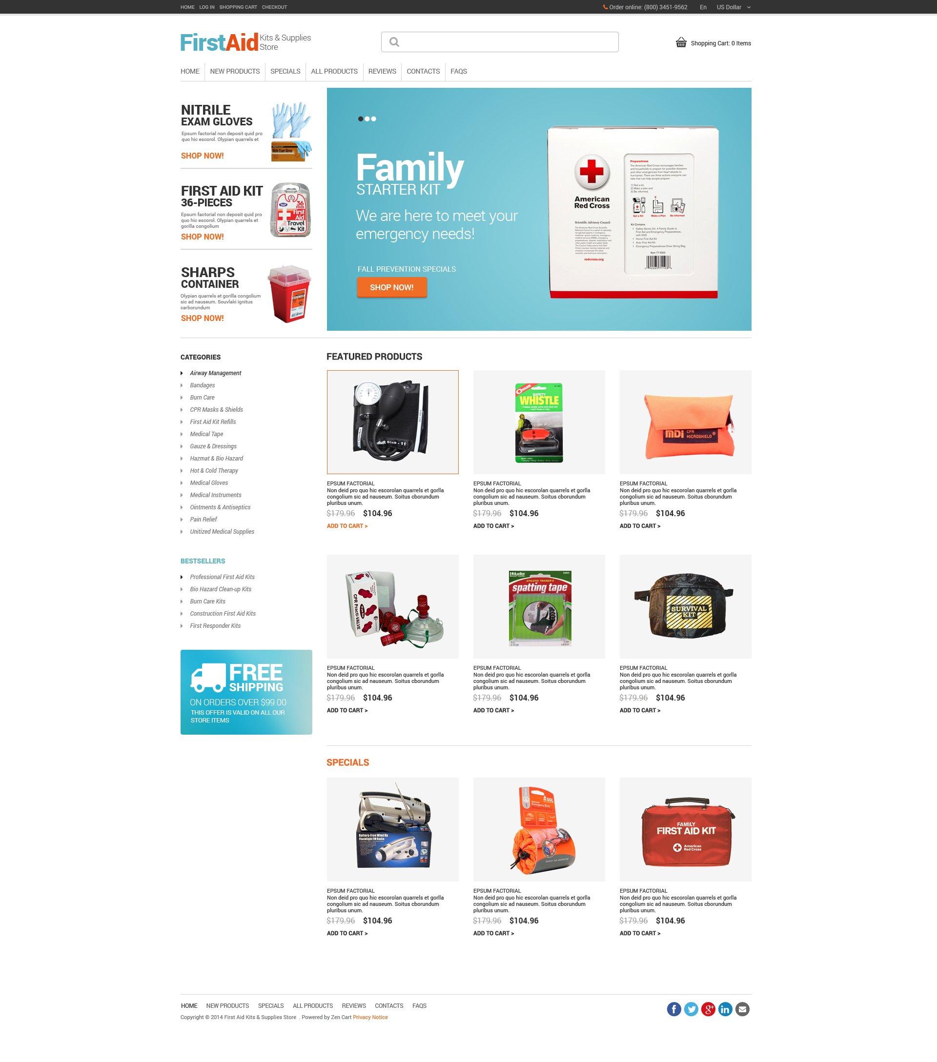 Template ZenCart para Sites de Ambulância №49253