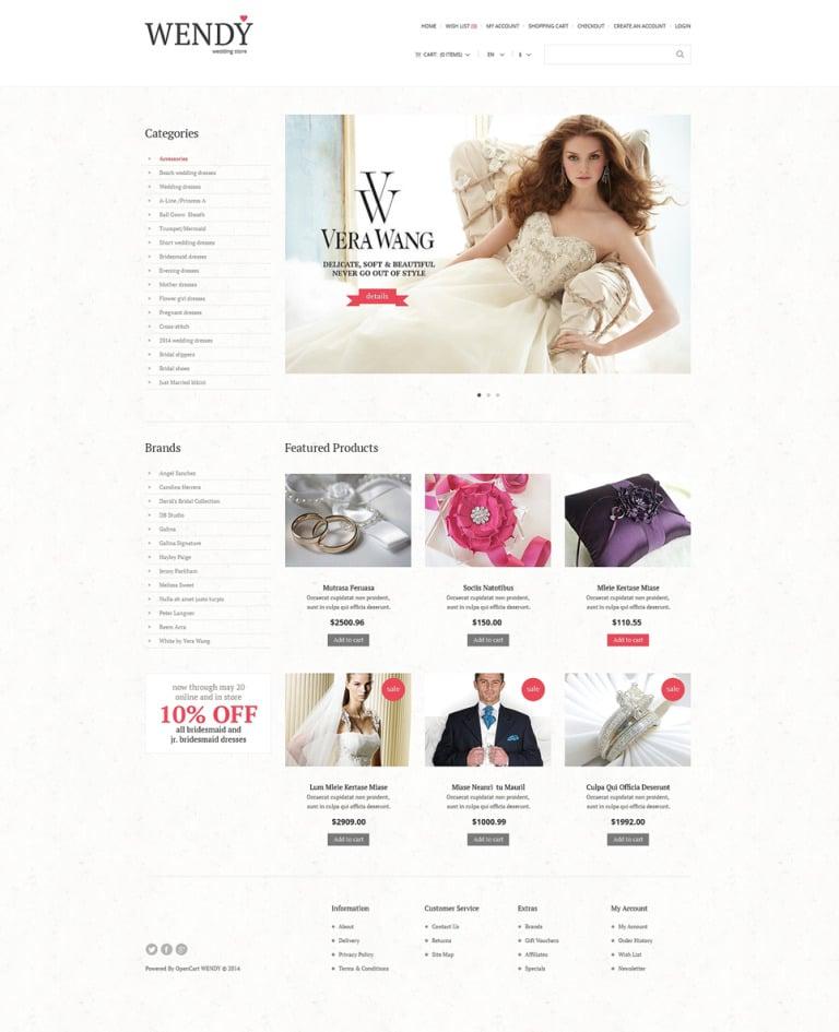 Wedding Shop Responsive OpenCart Template New Screenshots BIG
