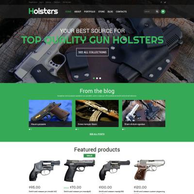 Responsives WooCommerce Theme für Waffengeschäft