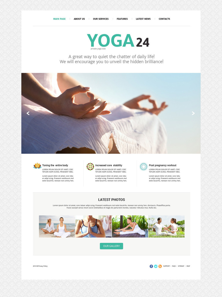 Yoga Studio Joomla Template New Screenshots BIG