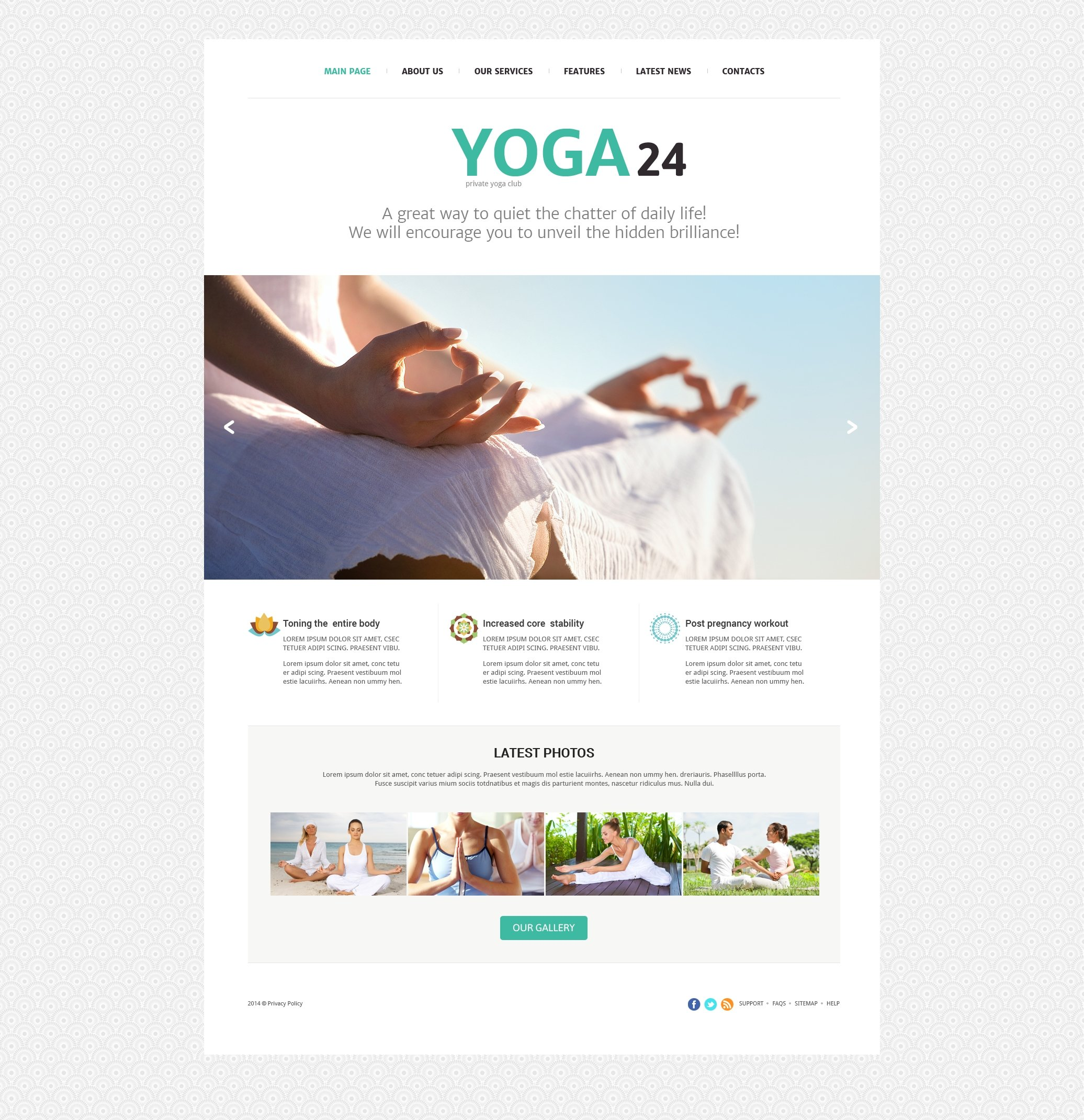 Yoga Studio Joomla Template - screenshot