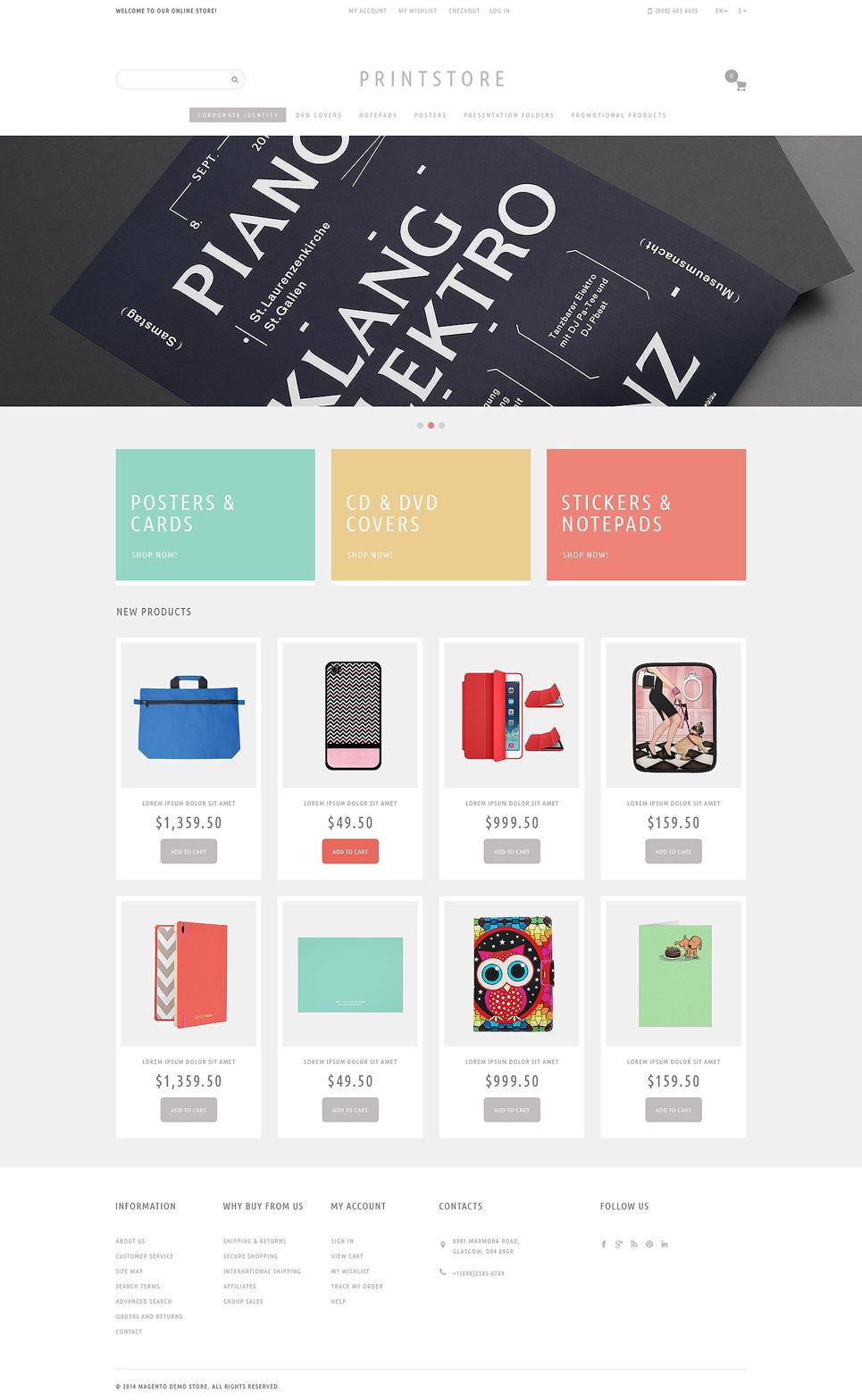 Your Print Store Magento Theme New Screenshots BIG