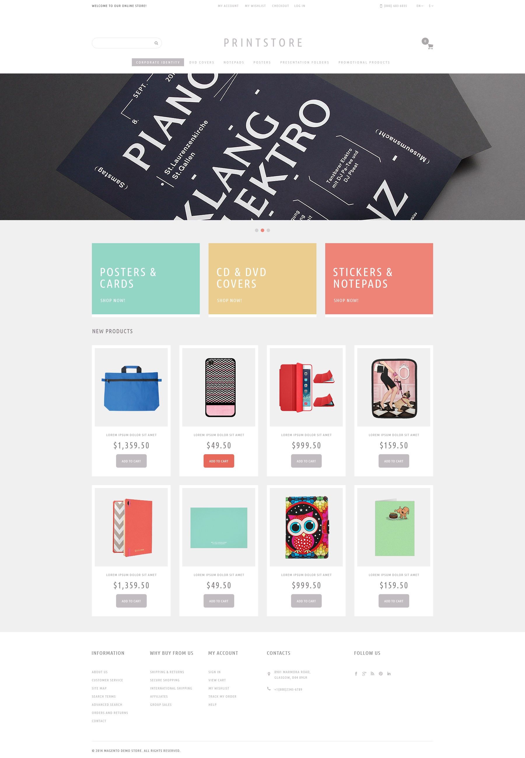 Your Print Store Magento Theme - screenshot