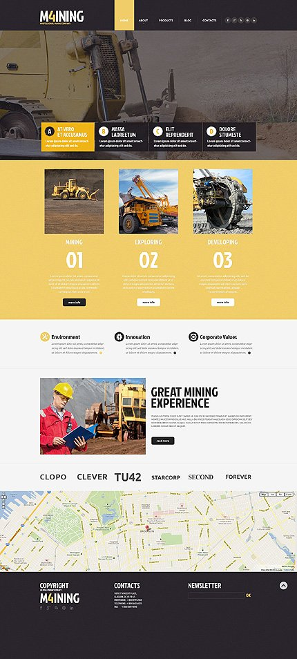 m4ining mining website template 0bootstrap template 49301