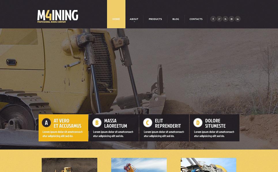 Reszponzív Bányaipari vállalatok Weboldal sablon New Screenshots BIG