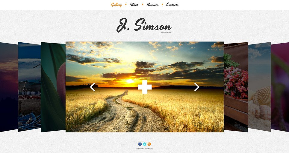 Bootstrap Website template over Fotograaf Portfolio New Screenshots BIG