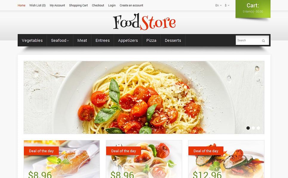 Reszponzív Élelmiszerboltok OpenCart sablon New Screenshots BIG