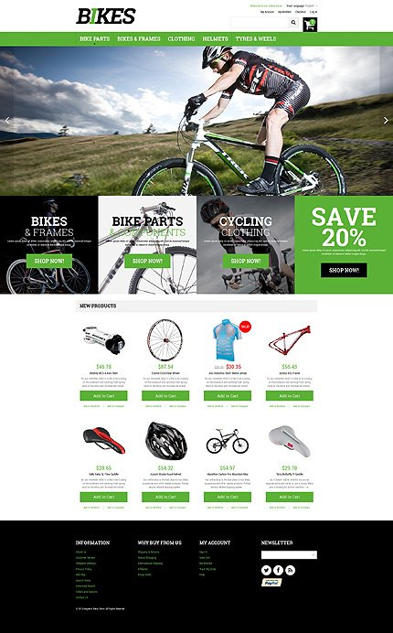 Magento Theme/Template 49313 Main Page Screenshot