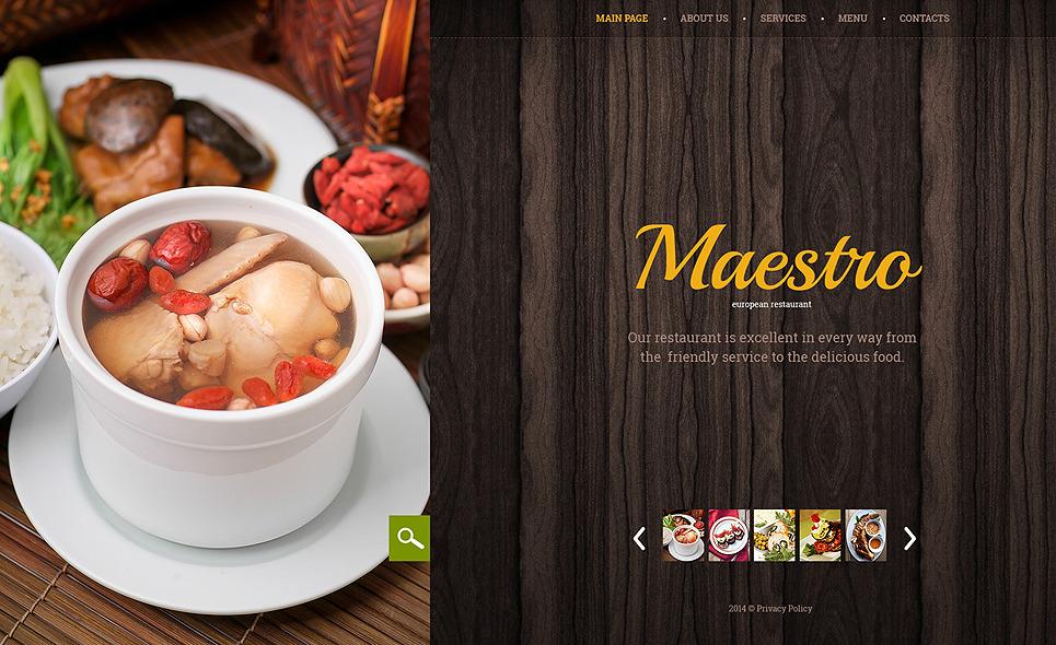 Bootstrap Website template over Café en Restaurant New Screenshots BIG