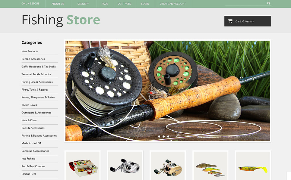 Plantilla VirtueMart #49327 para Sitio de Pesca New Screenshots BIG