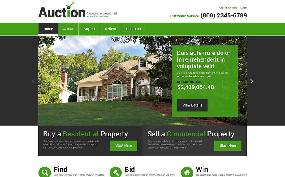 Responsywny szablon strony www #49332 na temat: agencja nieruchomości New Screenshots BIG