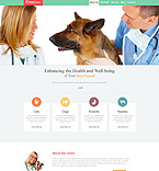 Animals & Pets Website  Template 49334