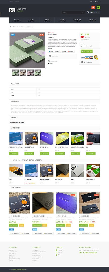 ADOBE Photoshop Template 49339 Home Page Screenshot