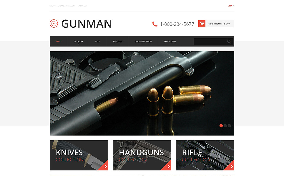 Tema de Shopify  Flexível para Sites de Loja de Armas №49340 New Screenshots BIG