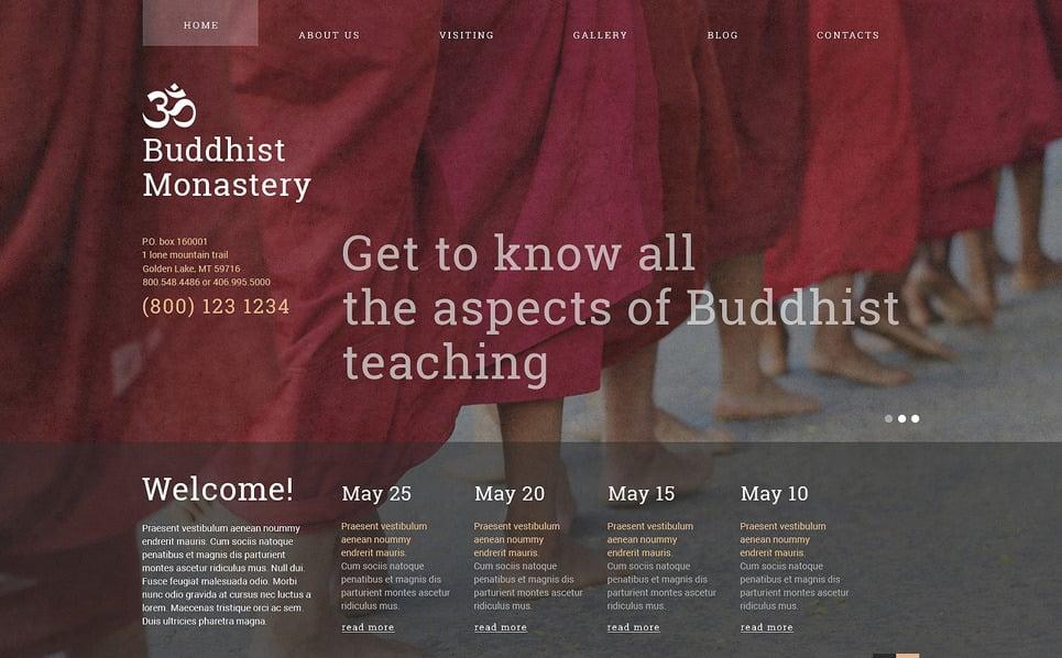 Reszponzív Buddhista Joomla sablon New Screenshots BIG