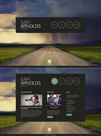 ADOBE Photoshop Template 49346 Home Page Screenshot