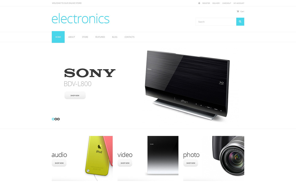 Responsive WooCommercie Thema over Elektronicawinkel  New Screenshots BIG