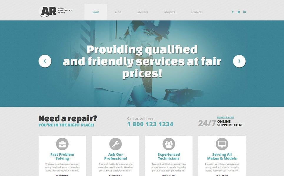 Responsive WordPress thema over Woning reparatie  New Screenshots BIG