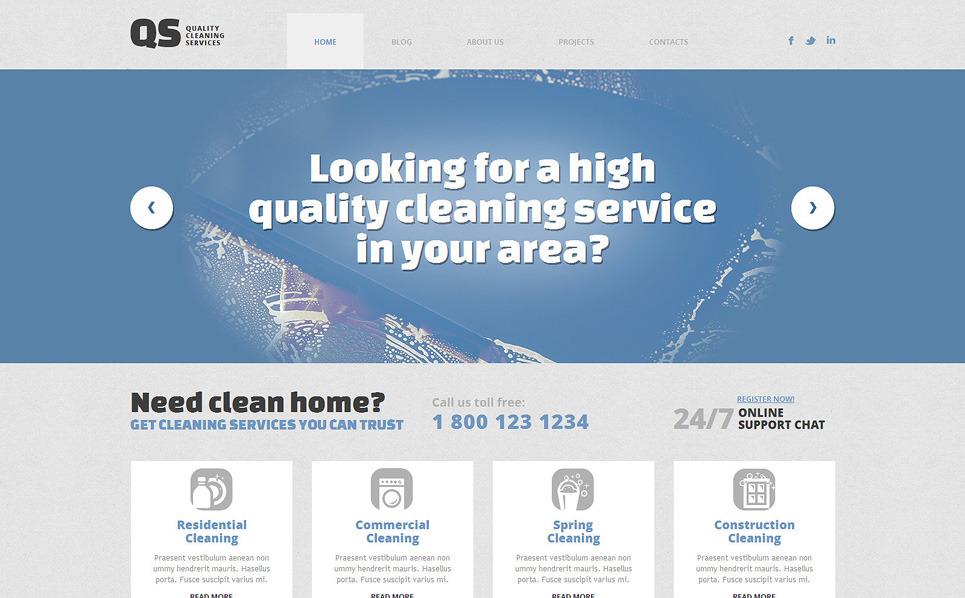 Tema WordPress Flexível para Sites de Limpeza №49360 New Screenshots BIG