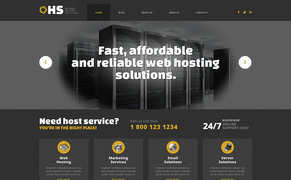 Responsive WordPress thema over Hosting  New Screenshots BIG