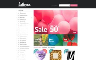 Balloons and Party Items PrestaShop Theme
