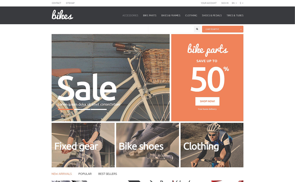 Responsive PrestaShop Thema over Fietsen  New Screenshots BIG