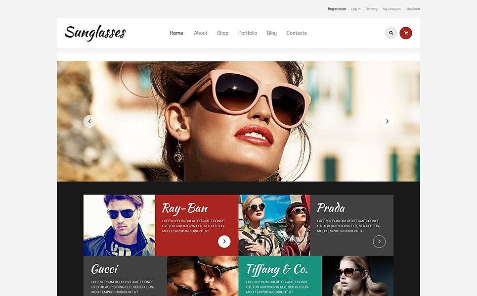 Адаптивний WooCommerce шаблон на тему окуляри New Screenshots BIG