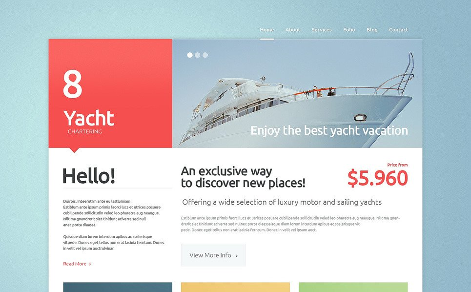 Responsive Website template over Jachtzeilen  New Screenshots BIG