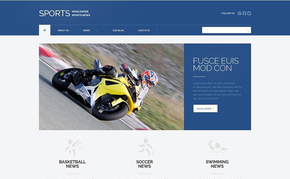 Адаптивний WordPress шаблон на тему спортивні новини New Screenshots BIG