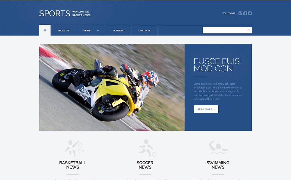Responsive Spor Haberleri  Wordpress Teması New Screenshots BIG