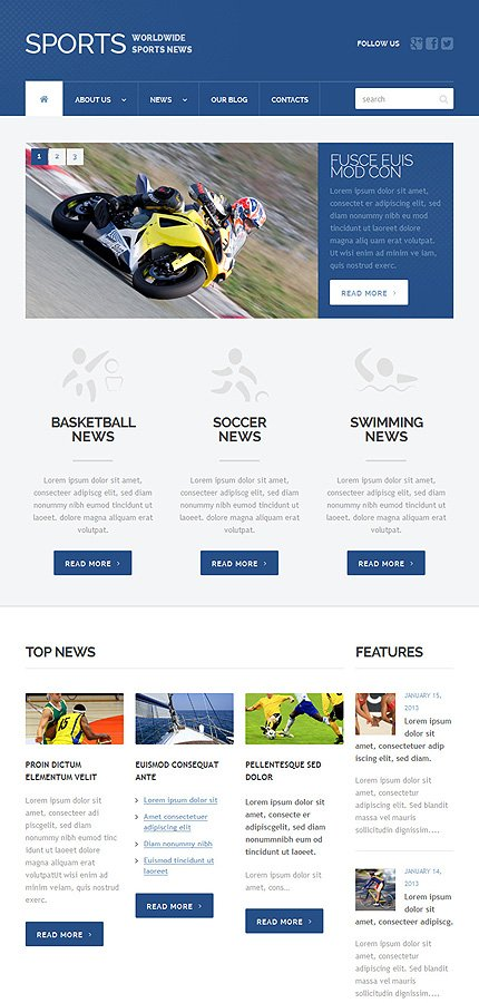 WordPress Theme/Template 49397 Main Page Screenshot