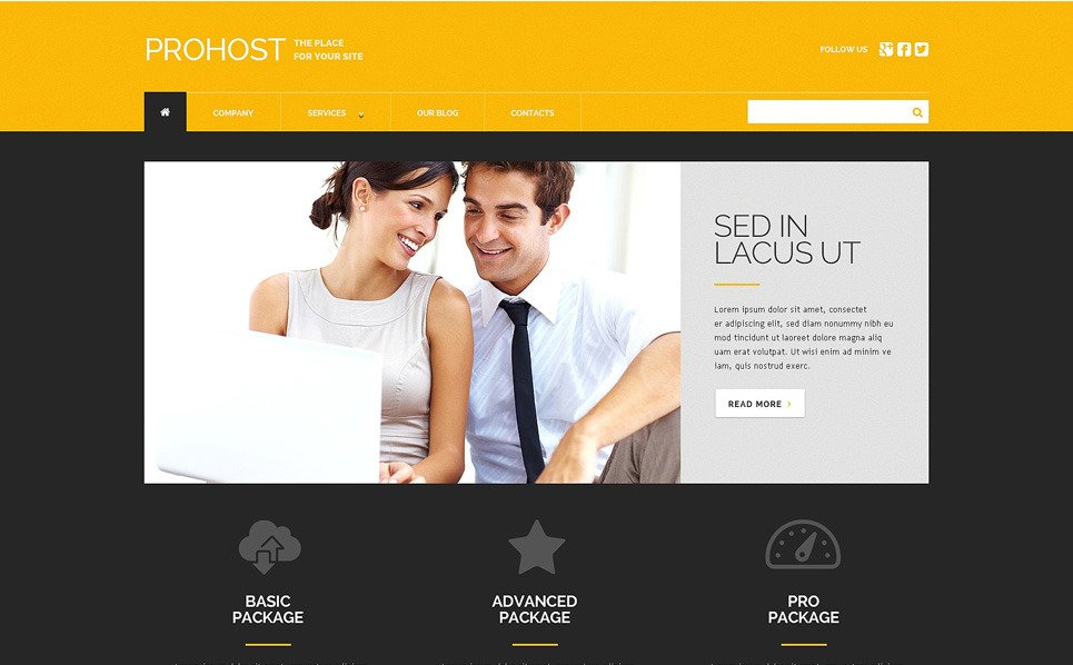 Responsive WordPress thema over Hosting  New Screenshots BIG