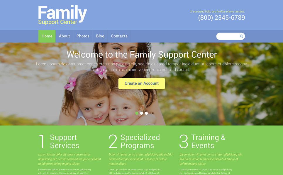 Адаптивний Joomla шаблон на тему сімейний центр New Screenshots BIG