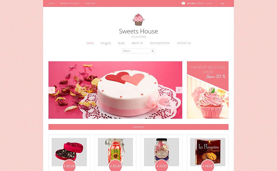 Адаптивний Shopify шаблон на тему магазин солодощів New Screenshots BIG