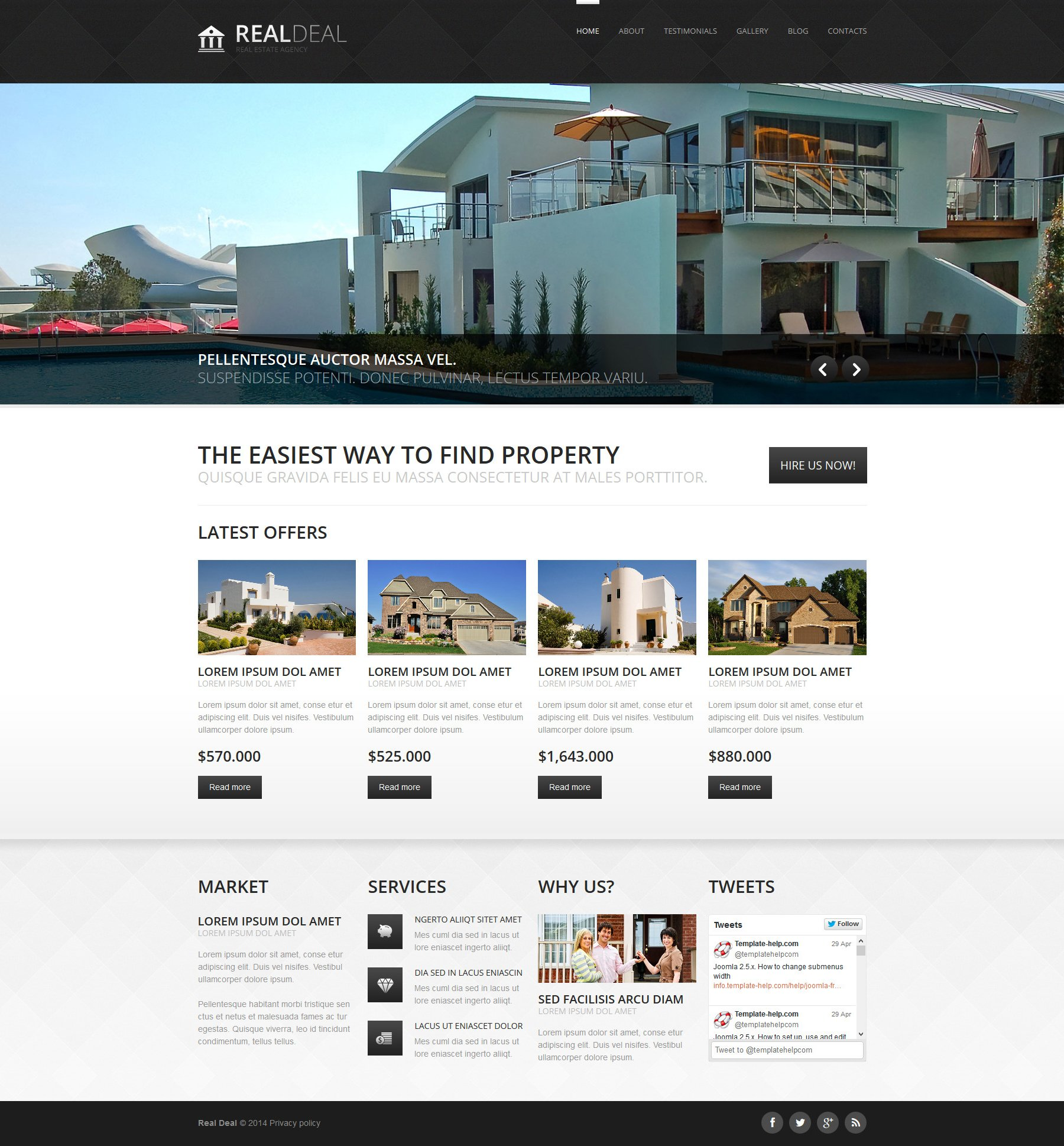 Адаптивный Joomla шаблон №49393 на тему агентство недвижимости - скриншот