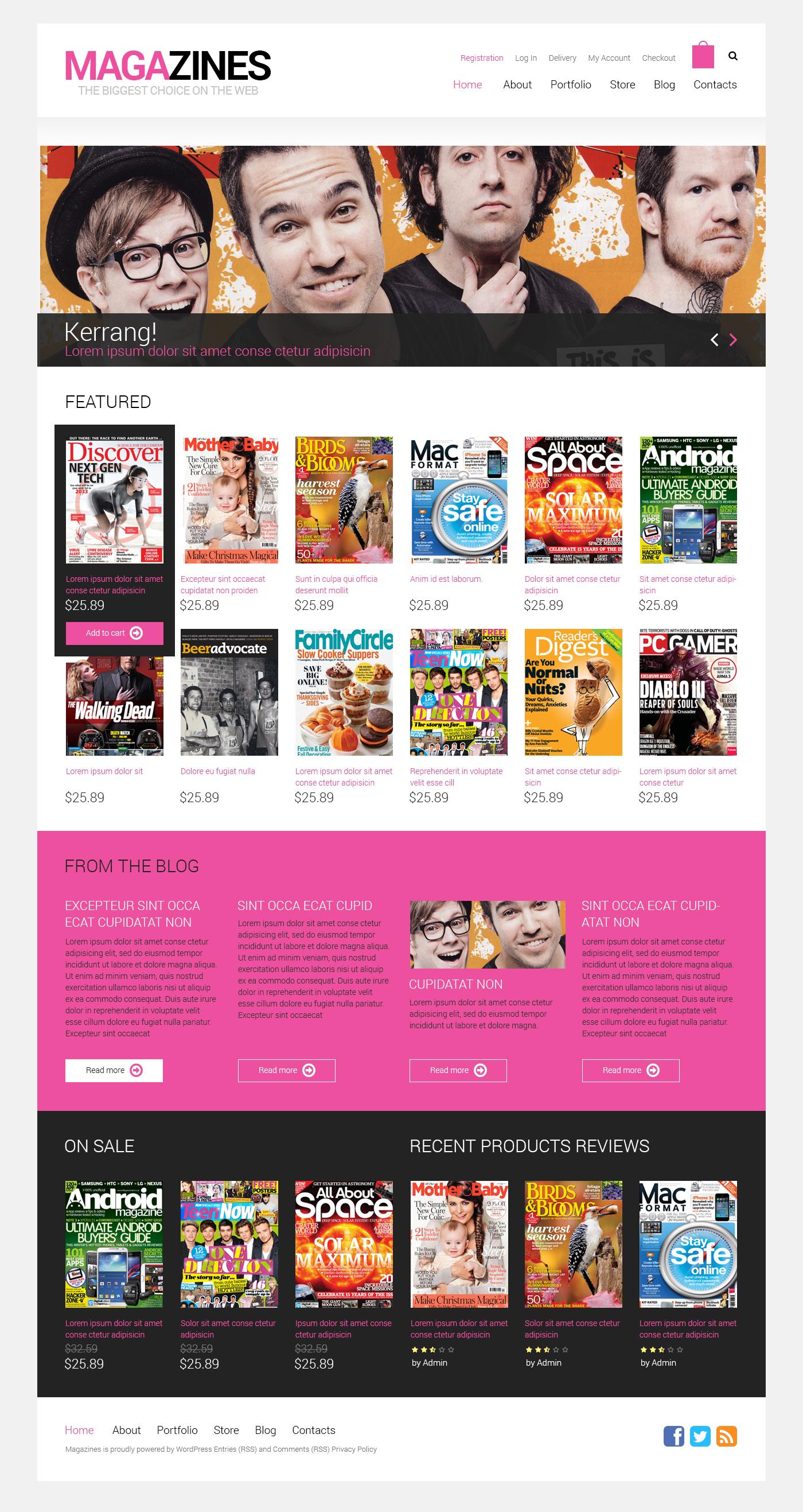 Адаптивный WooCommerce шаблон №49321 на тему новостной портал