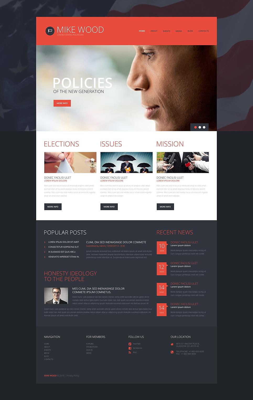 Адаптивный шаблон сайта на тему политический кандидат #49376