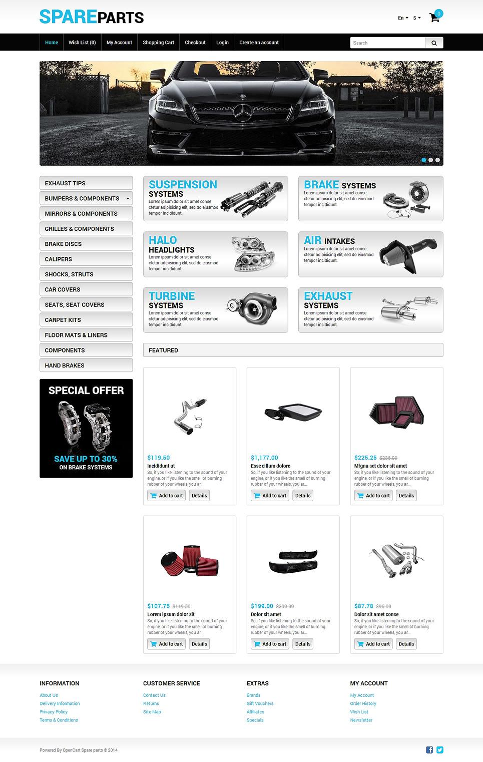 Auto Store OpenCart Template New Screenshots BIG