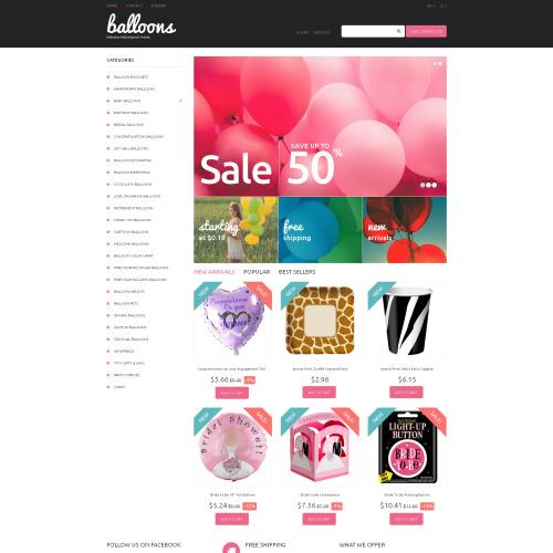 Balloons - PrestaShop Template based on Bootstrap