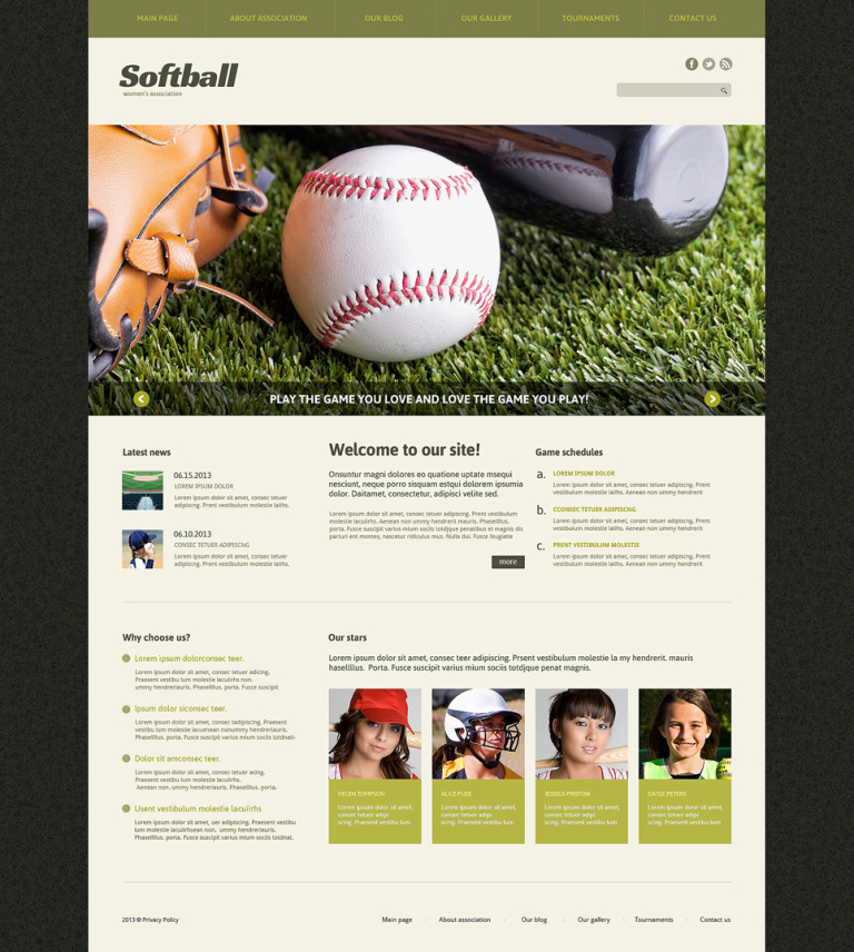 Baseball Responsive Joomla Template New Screenshots BIG