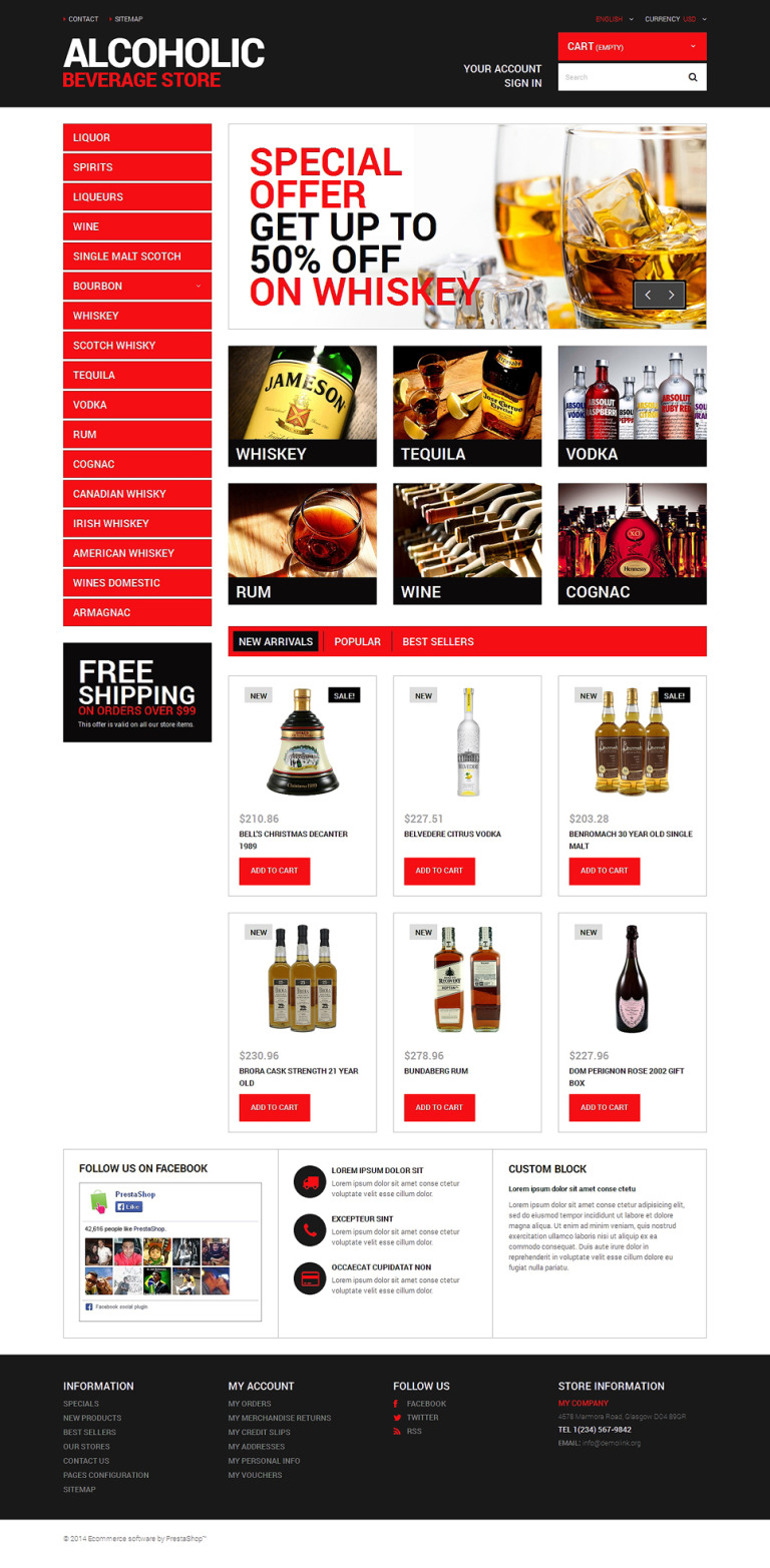 Beverage Planet PrestaShop Theme New Screenshots BIG