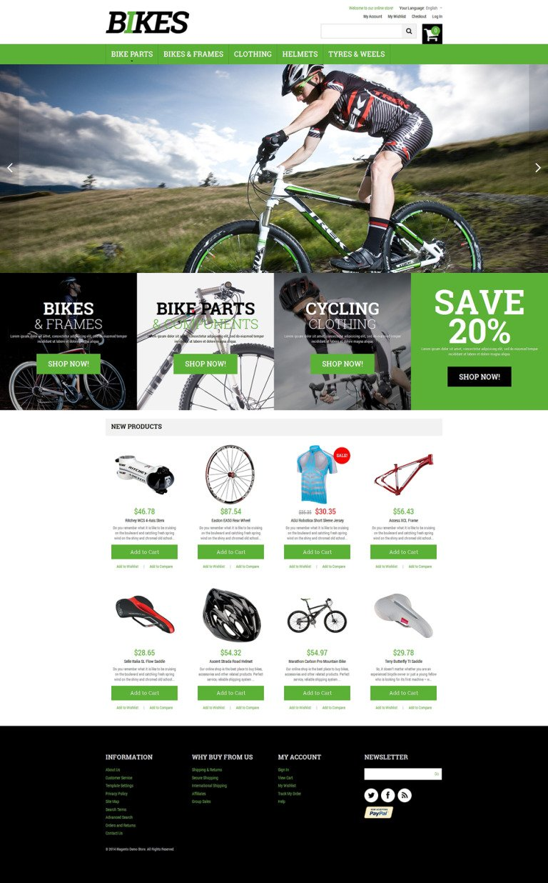 Bikes Magento Theme New Screenshots BIG