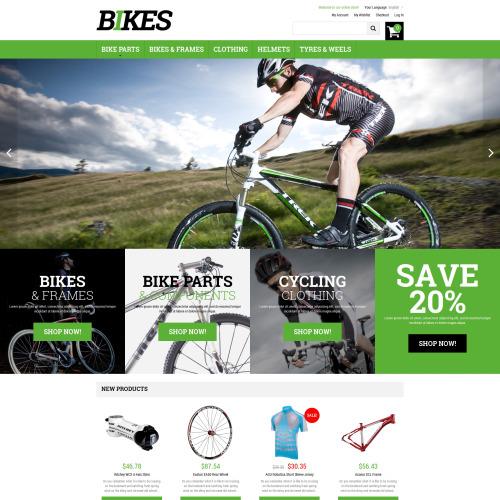 Bikes - Responsive Magento Template