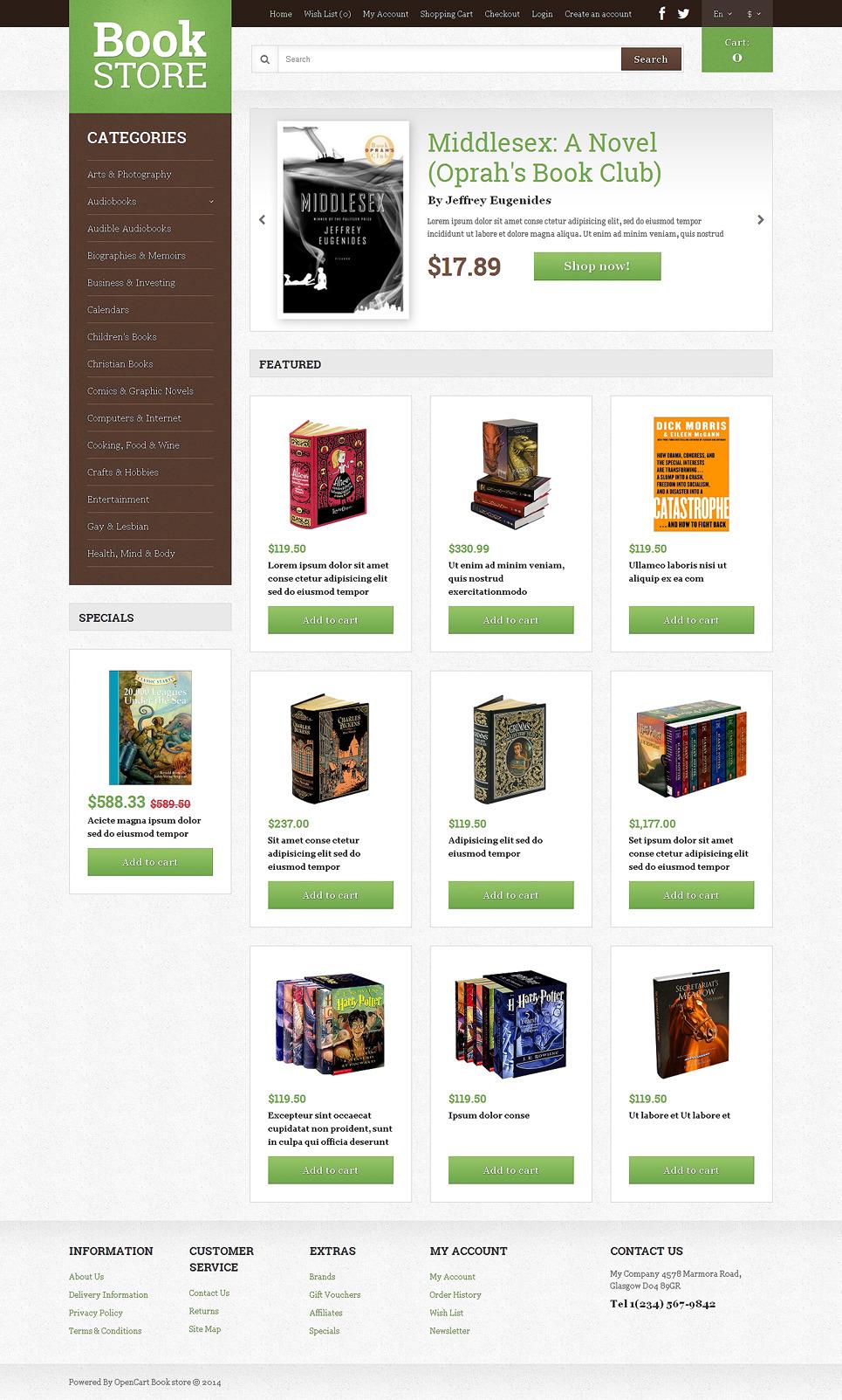 Book Shop OpenCart Template New Screenshots BIG