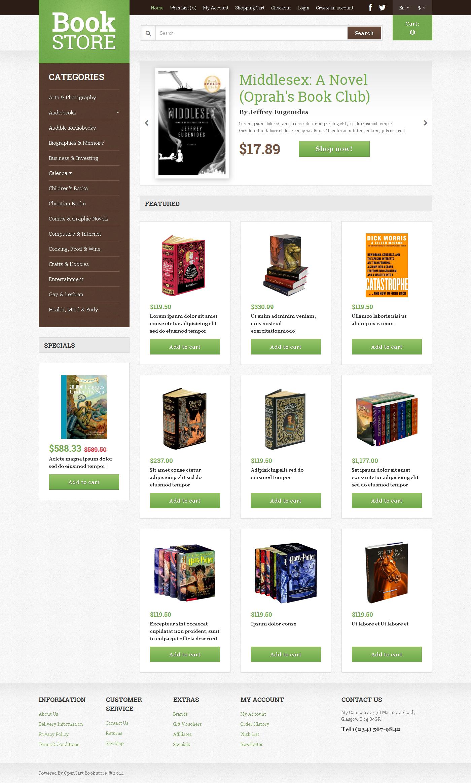 """Book Shop"" 响应式OpenCart模板 #49309 - 截图"