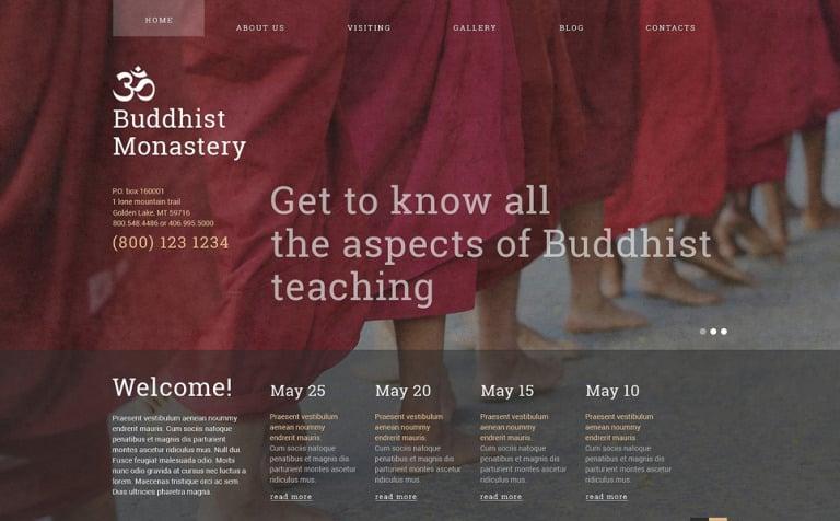Buddhist Monastery Joomla Template