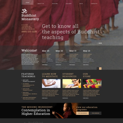 Buddhist Monastery - Joomla! Template based on Bootstrap