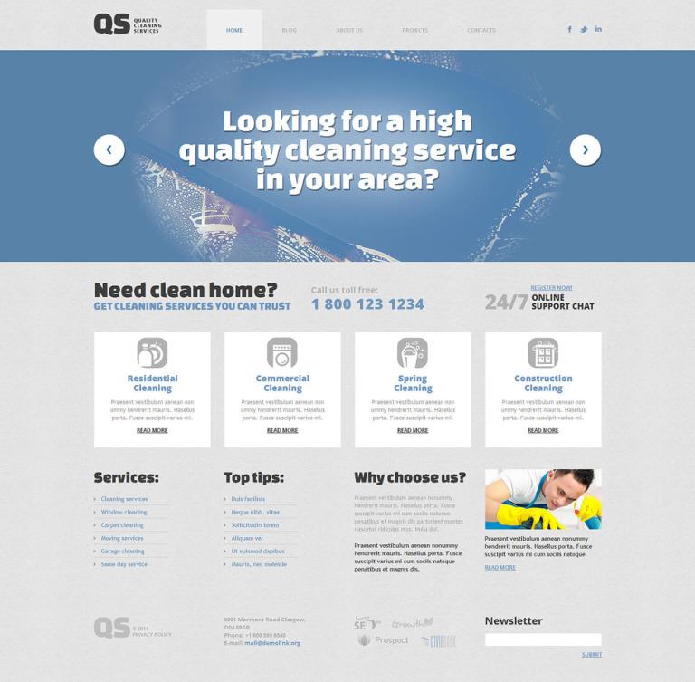 Cleaning Responsive WordPress Theme New Screenshots BIG