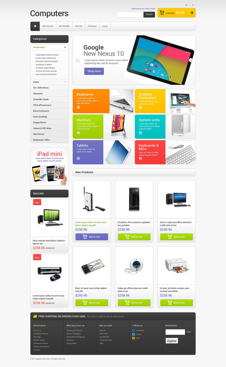 Computer Store Responsive Magento Theme New Screenshots BIG